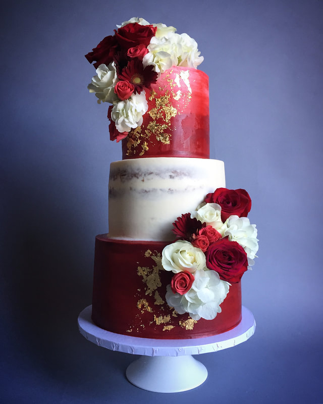 burgundy and gold wedding cake wedding cakes 12229